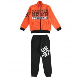 iDO Dres bawłniany spodnie i bluza chłopięcy K822-8083 pomarańcz