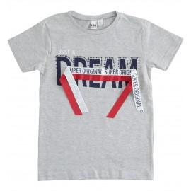 iDO T-shirt z krótkim rękawem dla chłopców K921-8992 szary