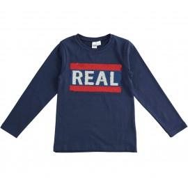iDO T-shirt z długim rękawem dla dziewczynek K922-3854 granat