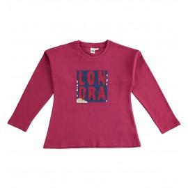 iDO Bluzka z długim rękawem dla dziewczynek K938-2655 bordo