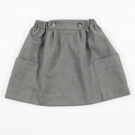 MINIMI spódnica dla dziewczynek szara 85/19