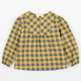 MINIMI bluzka elegancka w kratkę dla dziewczynek 84/19