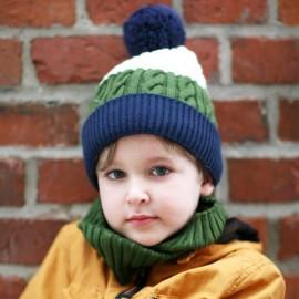 Pupill czapka z pomponem chłopaka MILANO zielony/granat