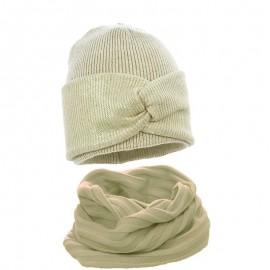 Pupill czapka z kominem dla dziewczynki ROCCO beż