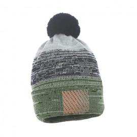 Pupill czapka z pomponem chłopięca METRO zielony