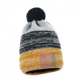Pupill czapka z pomponem chłopięca METRO żółty