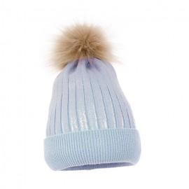 Pupill czapka z połyskiem dziewczęca JESSICA niebieski