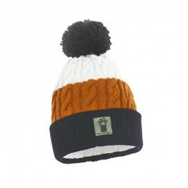 Pupill czapka z pomponem chłopaka MILANO pomarańcz/czarny