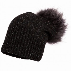 Jamiks JENNIFER II czapka dziewczęca z pomponem czarny