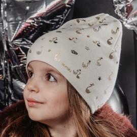 Jamiks MELODI czapka dziewczęca ekri