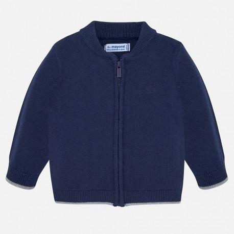Sweter na stójce na zamek dla chłopca Mayoral 361-76 Granat