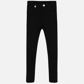 Spodnie z ciepłej bawełny dla dziewczynki Mayoral 588-14 Czarny