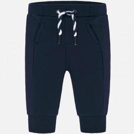Spodnie z ciepłej bawełny dla chłopca Mayoral 719-45 Granatowy