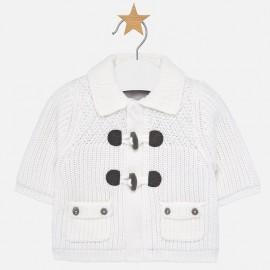 Sweter chłopięcy z kołnierzykiem Mayoral 2309-61 Kremowy