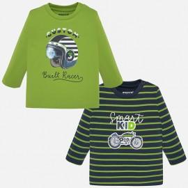 Komplet 2 koszulki z długim rękawem dla chłopca Mayoral 2018-49 Pistacjowy