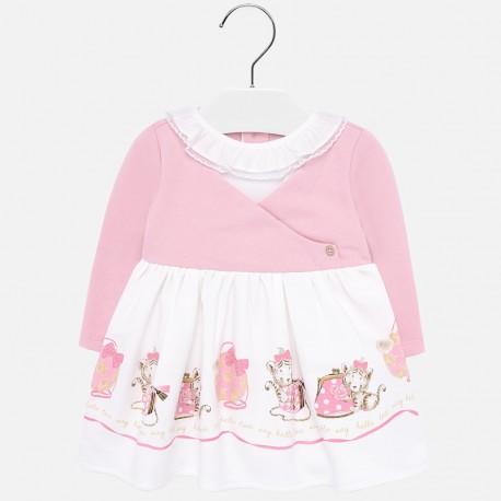 Sukienka na co dzień z podszewką dla dziewczynki Mayoral 2913-29 Różowy
