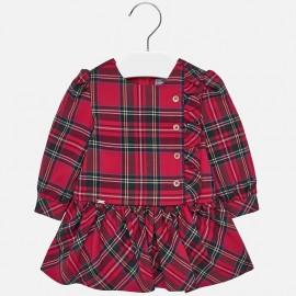 Sukienka w kratkę dla dziewczynki Mayoral 2926-17 Szkarłat