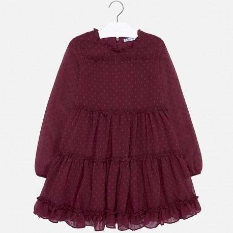 Sukienka z długim rękawem dla dziewczynki Mayoral 7937-59