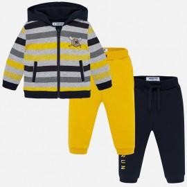 Dres bluza i dwie pary spodni dla chłopca Mayoral 2844-77 Kukurydza