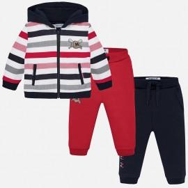 Dres bluza i dwie pary spodni dla chłopca Mayoral 2844-76 Czerwony