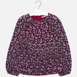 Bluzka we wzory z długim rękawem dziewczęca Mayoral 7108-77 Czerwony