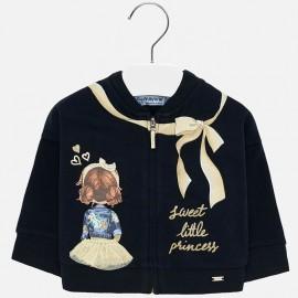 Bluza z nadrukiem na stójce dla dziewczynki Mayoral 2438-79