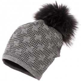 Jamiks VARLESCA I czapka dla dziewczynki z pomponem popiel