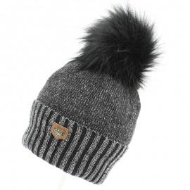 Jamiks WILHELM II czapka dla chłopaka z pomponem czarna