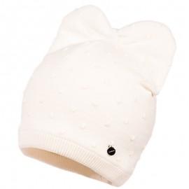 Jamiks KEIRA czapka dla dziewczynki ekri