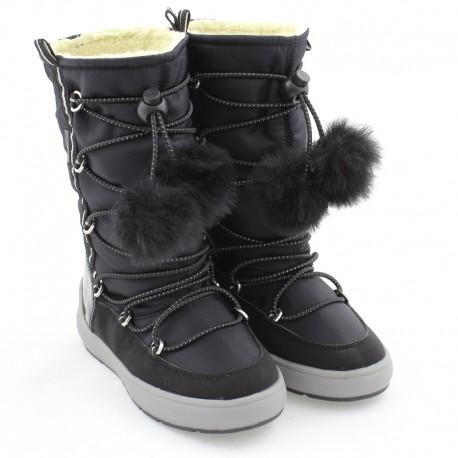 Śniegowce dziewczęce GEOX J949SB-0FU50-C9999 czarne