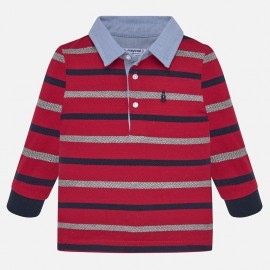 Koszulka polo z długim rękawem w paski chłopięca Mayoral 2108-59