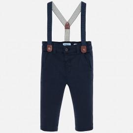 Spodnie chinos z szelkami chłopięce Mayoral 2532-80