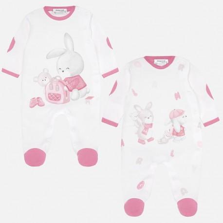 Komplet 2 sztuki piżamek dla chłopca Mayoral 2724-83 Różowy