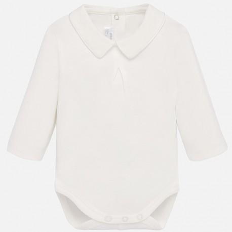 Body koszulowe z kołnierzykiem dla chłopca Mayoral 2734-88 Kremowy