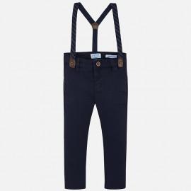 Spodnie eleganckie z szelkami chłopięce Mayoral 4522-28
