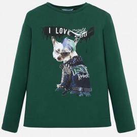Koszulka z długim rękawem dla dziewczynki Mayoral 7014-11
