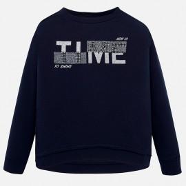 Bluza bawełniana z napisem dziewczęca Mayoral 7405-83