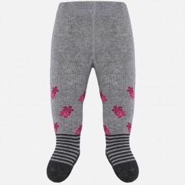 Rajstopy żakardowe bawełniane dla dziewczynki Mayoral 10630-11 Stal