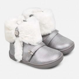 Buty zimowe z futerkiem dla dziewczynki Mayoral 42028-57 Srebrny
