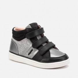 Buty sportowe sneakersy przejściowe dla dziewczynki Mayoral 48047-21 Czarny