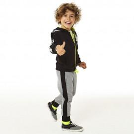 iDO Bawełniany dres bluza i spodnie dla chłopaka K552-8317 czarny