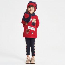 iDO Komplet bluza i getry dziewczęcy K671-8010 czerwony