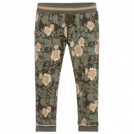 iDO Bawełniane spodnie dresowe dziewczęce K919-6LM4 zielone