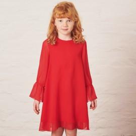 MINIMI sukienka elegancka dla dziewczynki czerwona 120/19