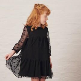 MINIMI sukienka elegancka dla dziewczynki czarna 125/19
