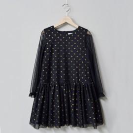 MINIMI sukienka elegancka dla dziewczynki czarna 123/19