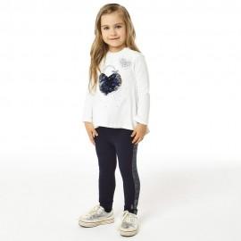 iDO Komplet bluzka i legginsy dziewczęcy K672-8132 krem