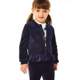 iDO Dres welurowy bluza i spodnie dziewczęcy K677-3854 granat