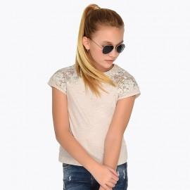 Mayoral 6008-10 Koszulka dziewczęca kolor krem