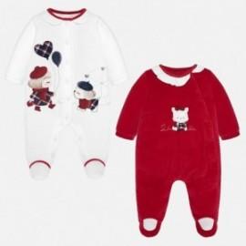 Komplet 2 piżamy welurowe dla dziewczynki Mayoral 2706-78 Wiśnia